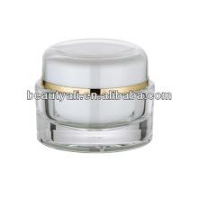 Envase de acrílico transparente redondo de 15 ml