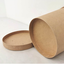 Wholesale kraft paper, soup bucket of disposable hot drink cup with cover soup cup environmental take-out packaging soup bowl