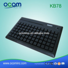 78 Keys POS Programmable Keyboard with Card Reader--KB78