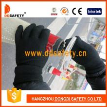 Heißer Verkauf Nylon Baumwolle gestrickte Handschuhe PVC Punkte Dkp429