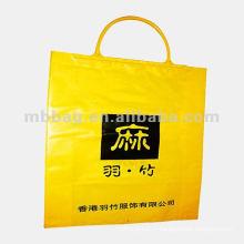 clip rigide jaune poignée sac en plastique d'emballage pour vêtements