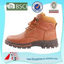 Fábrica OEM Bota de couro de alta qualidade, moda boot de couro genuíno para homens, bota de vaqueiro elegante trabalhador