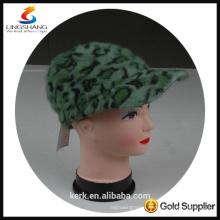 DSC9603 lingshang angora high quality winter Custom Crocheting Knitted crochet hat for lady
