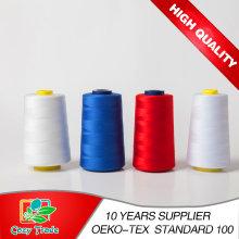40/2 fil de couture 100% filé à fil en gros, fil de couture bon marché, filetage en fil de polyester couture