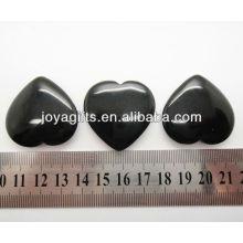 Naturel noir en forme d'onyx coeur 35mm
