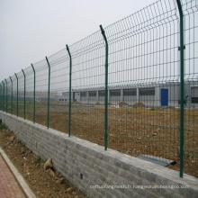 Fencing en métal soudé revêtu de PVC avec cadre