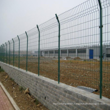 PVC Coated Welded Metal Fencing with Frame