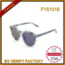 F151016 Personalizados ronda las gafas de sol para hombre