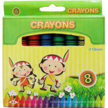 8 pcs enfants école artiste professionnel dessin en vrac non toxique cire crayon crayon de cire