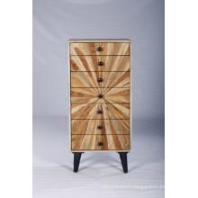 Ensemble de tiroir en bois moderne vintage moderne moderne