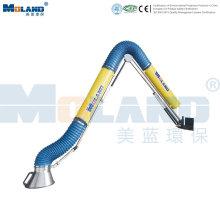 Brazo de extracción de humos de soporte externo