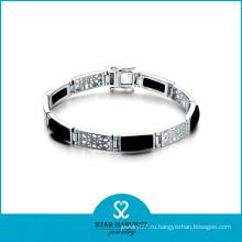 Мода Rhodium покрыл серебряные ювелирные изделия Agatebracelet (SH-B0008)