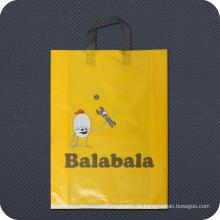 Kundenspezifische bedruckte bunte Plastik Einkaufstasche