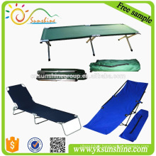 High density 600D polyester foldable beach bed / beach bed