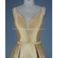 Gold Solid Mikado Ballkleid Langes Kleid
