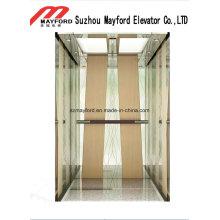 Elevador de aço inoxidável do passageiro do espelho para prédios de escritórios