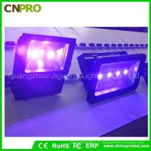 La lumière d'inondation UV 100W des effets spéciaux IP65 pour traiter l'aquarium de pêche de Blacklight luisent la lueur