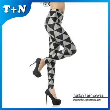Leggings stampati poliestere dello spandex leggings per le donne