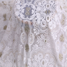 Compound Silk Thread Two Tone Embroidery Fabric