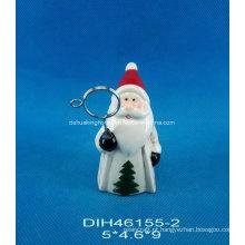 Hand-Painted Ceramic Santa Business Card Holder