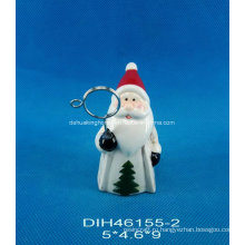 Ручная роспись керамической визитной карточки Санта-Клауса