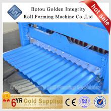 Máquina de fabricação de rolo de folha de telhado de ferro ondulado
