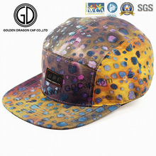 2016 New Hat Colorful Leopard Snapback Adult Runner Camper Cap