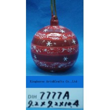 Christmas Tree Hanging Round Ceramic Ball