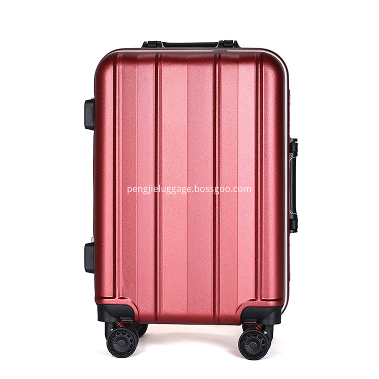 3pcs abs+pc aluminium luggage