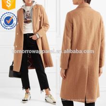 Abrigo de lana con textura cruzada Fabricación de prendas de vestir al por mayor Mujeres Ropa (TA3012C)