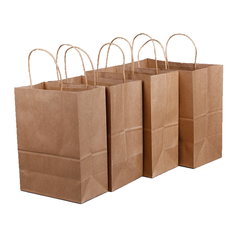 Brown Kraft Paper Bag With Brown Paper Rope