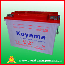 6-Dg-160-12V160ah Röhrenhaftes trockenes Ladegerät-tiefe Zyklus-Batterie für elektrisches Dreirad