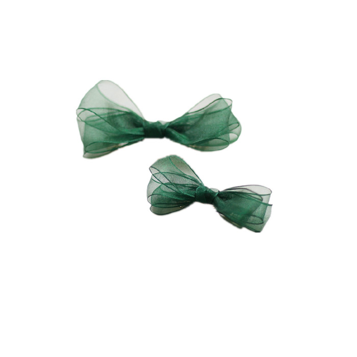 Organza Bow green