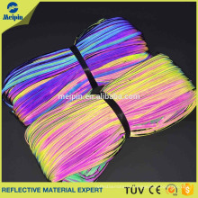 Rainbow Reflective Fabric Piping for Clothing/ Shoes/ Uniform