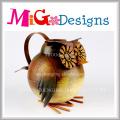 Regadera creativa del metal de la decoración del jardín con la impresión