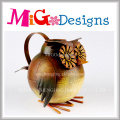 Creative Garden Decoration Metal Watering Can with Printing