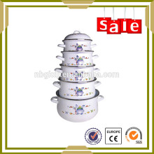 5 pcs Enamelware porcelain enamel kitchen queen cookware set for soup
