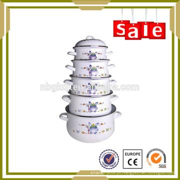 5 pcs panelas de porcelana esmalte porcelana cozinha esmalte conjunto para sopa