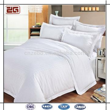 Сделано в Китае Хлопчатобумажная белая ткань Оптовые гостиничные мотели Комплекты постельных принадлежностей