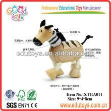 Brinquedos Zebra De Madeira Para Crianças