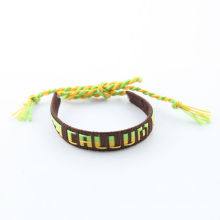 hot sell!!! bracelet fashion ,letter colorful slik women bracelet in summer