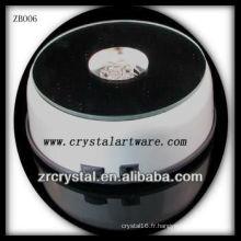 Base légère en plastique de la mode LED pour le cristal