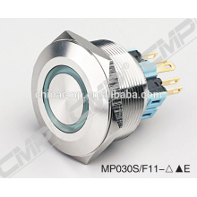 Metal Switch RG or RGB LED Light Push Button Switch 30mm