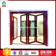 Puerta plegable de vidrio doble de baja emisividad.