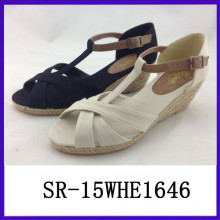 2015 fashion rubber wedge sandals open toe wedge sandals wedge sandals