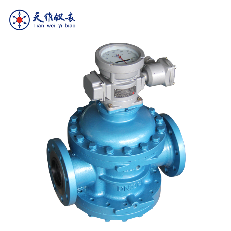 Mechanical display crude oil flow meter