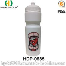 Botella de agua de 750ml BPA libre respetuoso del medio ambiente deportes (HDP-0685)