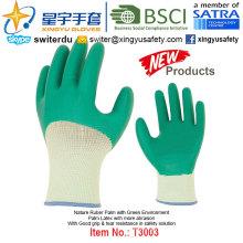 (Produtos de patentes) revestido de látex verde meio ambiente luvas T3003