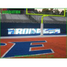 Exposição de diodo emissor de luz exterior do perímetro do estádio de Footabll da cor completa