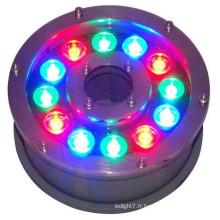 Chine fournisseur nouveau produit 100-240v 12V 24V 9w 12w ip65 12w 24v piscine conduit couleur changeant les lumières